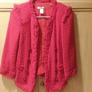 Wdny extra small bright red blazer jacket